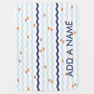 Cobertor Para Bebe Cobertura bonito do nome do peixe dourado