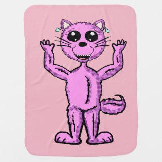 Cobertor Para Bebe Cobertura cor-de-rosa bonito do gatinho