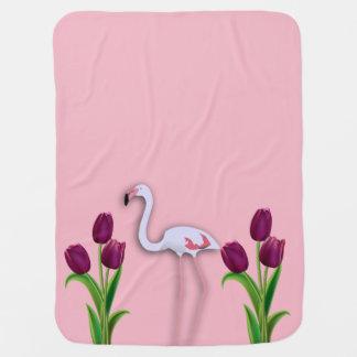 Cobertor Para Bebe Cobertura cor-de-rosa do bebê do flamingo