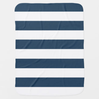 Cobertor Para Bebe Cobertura corajosa do azul marinho e a branca das