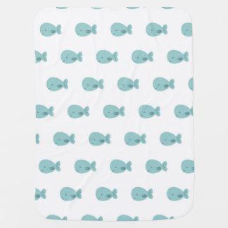Cobertor Para Bebe Cobertura das baleias do bebê