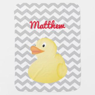 Cobertor Para Bebe Cobertura de borracha amarela do bebê do pato