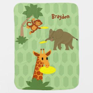 Cobertor Para Bebe Cobertura do bebê da selva do Frisbee
