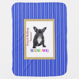 Cobertor Para Bebe Cobertura do bebê de HAMbWG - buldogue francês