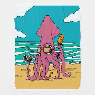 Cobertor Para Bebe Cobertura do bebê do calamar de Bro