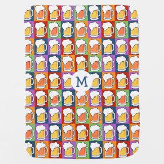 Cobertor Para Bebe Cobertura do bebê do pop art da CERVEJA
