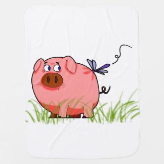 Cobertor Para Bebe Cobertura do bebê do porco