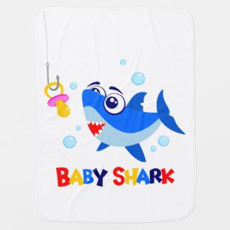 Cobertor Para Bebe Cobertura do bebê do tubarão do bebê