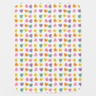 Cobertor Para Bebe Cobertura do bebê dos corações dos doces da