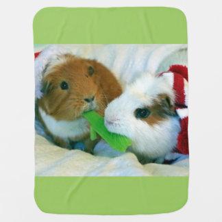 Cobertor Para Bebe cobertura do Natal da cobaia