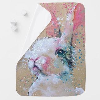 Cobertor Para Bebe Cobertura do Splatters-Bebê do coelho/pintura