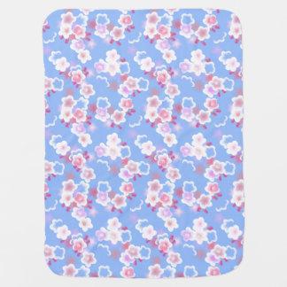 Cobertor Para Bebe Cobertura floral azul bonito do bebê