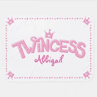 Cobertor Para Bebe Cobertura gêmea do bebê da menina de Twincess