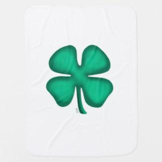 Cobertor Para Bebe Cobertura irlandesa afortunada do bebê do trevo de