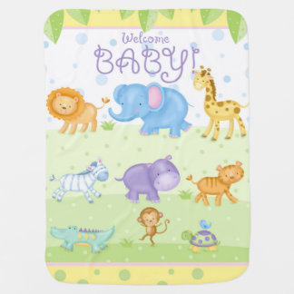 Cobertor Para Bebe Cobertura nova animal do bebê do safari