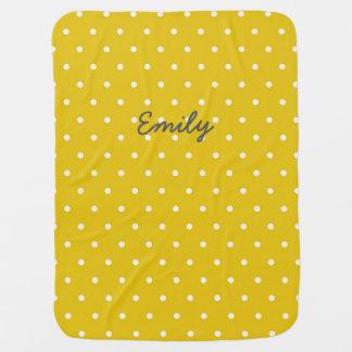 Cobertor Para Bebe Cobertura personalizada amarelo do bebê das
