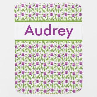 Cobertor Para Bebe Cobertura personalizada da íris de Audrey