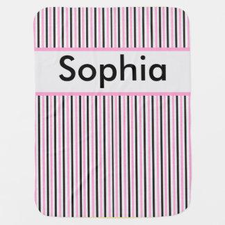 Cobertor Para Bebe Cobertura personalizada da listra de Sophia