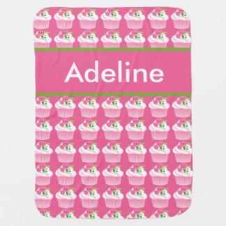 Cobertor Para Bebe Cobertura personalizada do cupcake de Adeline