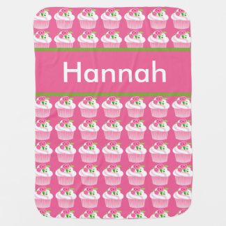 Cobertor Para Bebe Cobertura personalizada do cupcake de Hannah