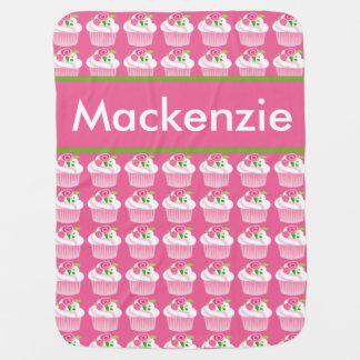 Cobertor Para Bebe Cobertura personalizada do cupcake de Mackenzie