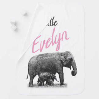 "Cobertor Para Bebe Cobertura personalizada ""Evelyn pequena "" do bebé"