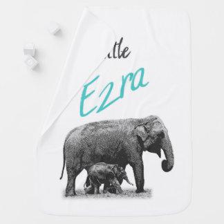 "Cobertor Para Bebe Cobertura personalizada ""Ezra pequeno "" do bebé"