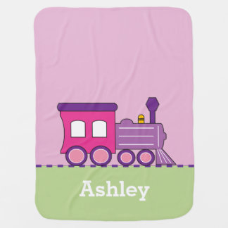 Cobertor Para Bebe Cobertura personalizada trem do bebê do Choo Choo
