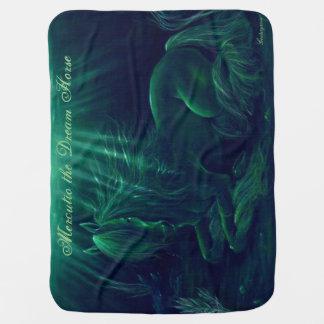 Cobertor Para Bebe Cobertura verde mágica - Mercutio o cavalo ideal