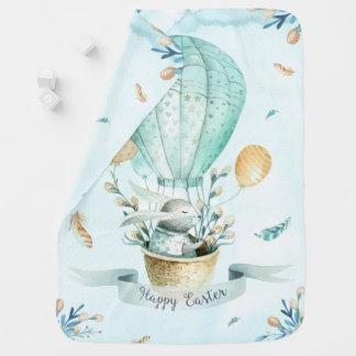 Cobertor Para Bebe Coelho de felz pascoa & cesta da páscoa