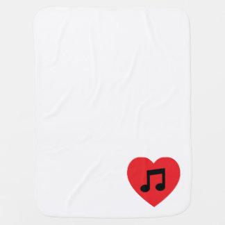 Cobertor Para Bebe Coração da nota da música