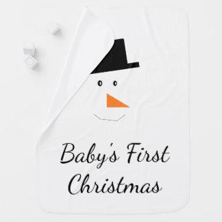Cobertor Para Bebe Costume da cara do boneco de neve do Natal do bebê