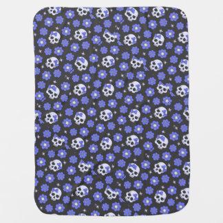 Cobertor Para Bebe Crânios de flower power da pervinca