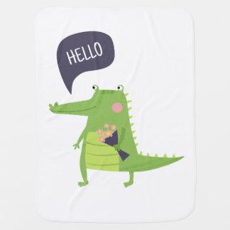 Cobertor Para Bebe Crocodilo bonito