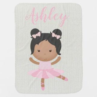Cobertor Para Bebe Dançarino cor-de-rosa dos calçados de dedo do pé