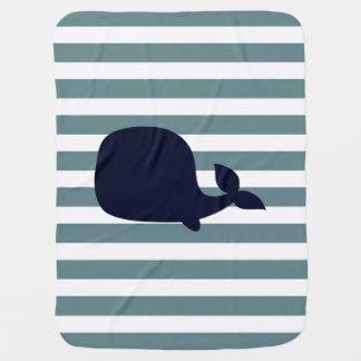 Cobertor Para Bebe Decoração náutica bonito do berçário do oceano do