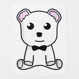 Cobertor Para Bebe Desenhos animados do urso branco