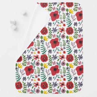 Cobertor Para Bebe Design floral do Watercolour