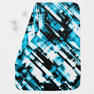 Cobertor Para Bebe Digitalart geral G253 do abstrato do preto azul do
