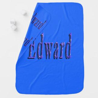 Cobertor Para Bebe Edward, nome, logotipo, cobertura azul dos bebés