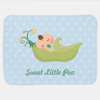 Cobertor Para Bebe Ervilha doce em um vagem para o bebé