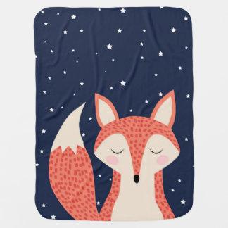 Cobertor Para Bebe Estrelas da noite da raposa do sono