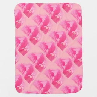 Cobertor Para Bebe Fim-acima cor-de-rosa das folhas e da flor do