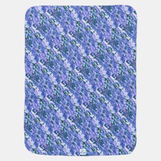 Cobertor Para Bebe Flor branca do Dogwood no azul