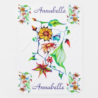 Cobertor Para Bebe Floral exótico Enchanting lunático chique elegante