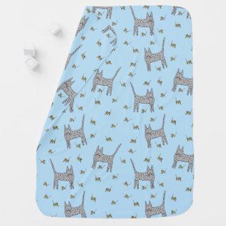Cobertor Para Bebe Gato e cobertura do bebê dos ratos