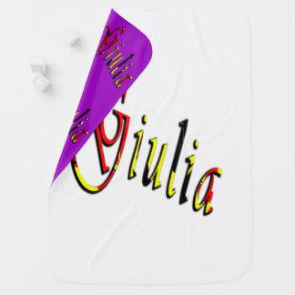 Cobertor Para Bebe Giulia, nome, logotipo, cobertura reversível do