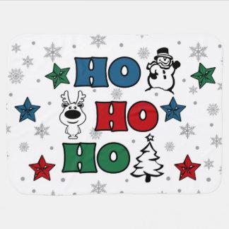 Cobertor Para Bebe Ho-Ho-Ho design do Natal
