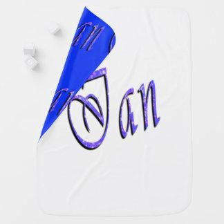Cobertor Para Bebe Ian, nome, logotipo, cobertura reversível do bebê