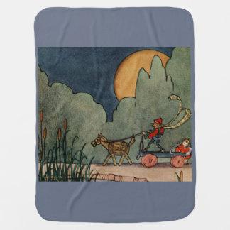 Cobertor Para Bebe Ilustração do vintage da turfa de Bisel da